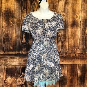 Umgee - Cheetah Print Short Sleeve Dress - S